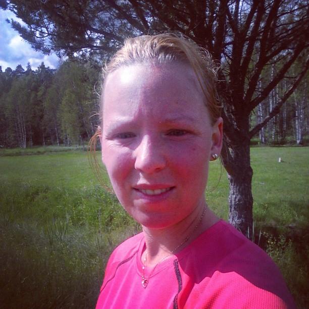 Dagens svetto efter 5-kilometersrundan