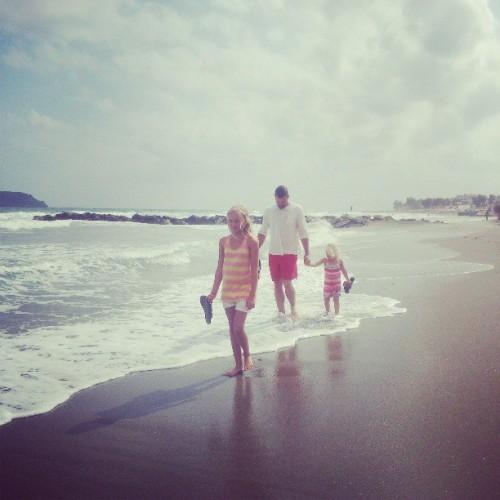promenad längs stranden