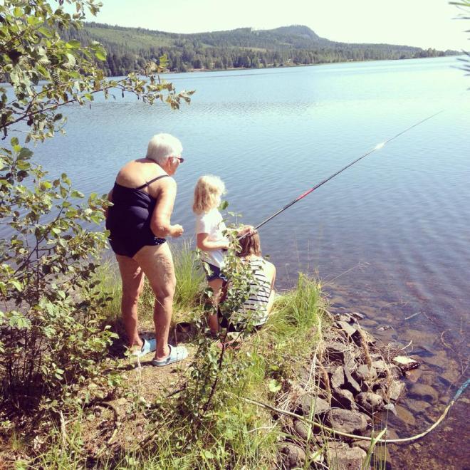 fiske med gammelfarmor