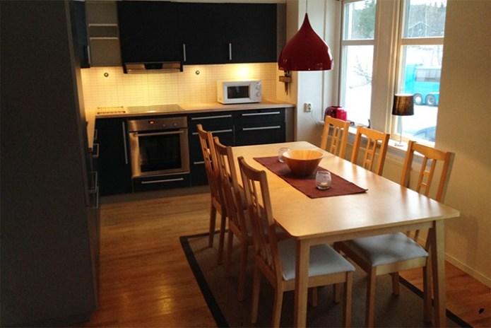 köket i lägenheten