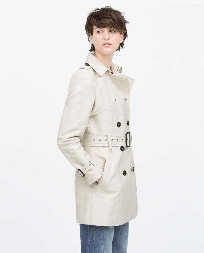 På önskelistan just nu: vårig trenchcoat från Zara